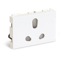 6/16A 3 Module Socket (with Shutter)