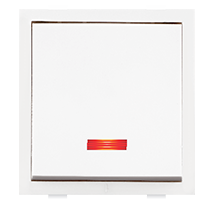 6A 2 Module 1 Way Switch with Indicator