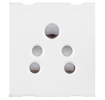 6A 2 Module 2 in 1 Socket (with Shutter)