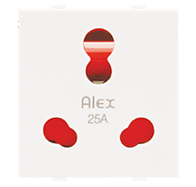 25A 2 Module Socket (with Shutter)