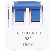 6-32A 2 Module D.P. Trip Isolator