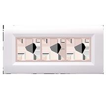 6 Module Ena Wood Plate