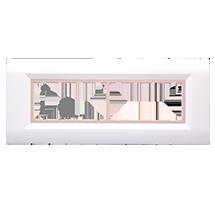 8 Module Ena Wood Plate (Horizontal)