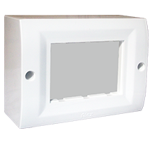 3 Module Surface Box with Back Plate