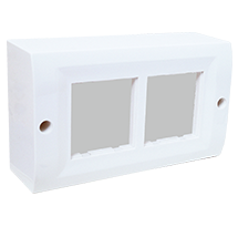 4 Module Surface Box with Back Plate