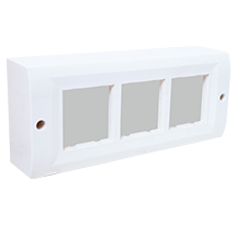 6 Module Surface Box with Back Plate