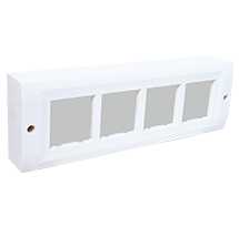 8 Module Surface Box with Back Plate (Horizontal)
