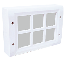 12 Module Surface Box with Back Plate