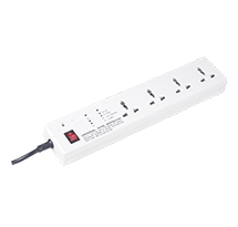 Slim Spike Guard(1.5Mtrs/3Mtrs) Four 6A Sockets with EMI/RFI Noise Filter