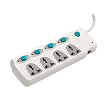4+4 Spike Guard (With Individual Switch, Indicator, International Socket & Surge Projector)