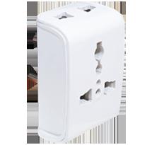 3 Pin Multi Plug with 2 - 2 Pin & 1 - 3 Pin Int. Socket