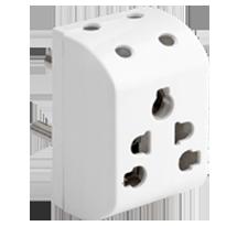 3 Pin 6 Way Multi Plug for 6/10/13A